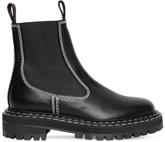 Proenza Schouler 30mm Leather Beatle Boots