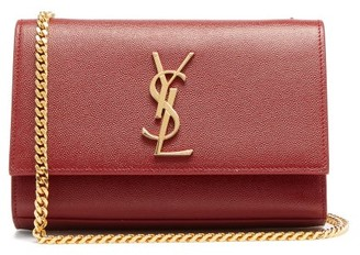 Saint Laurent Kate Small Grained Leather Shoulder Bag - Red