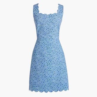 J.Crew Basketweave scallop-edge dress