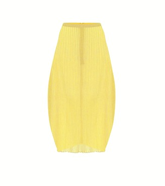 Jil Sander Ribbed-knit straight-fit jersey skirt