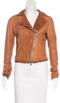 Giorgio Brato Leather Asymmetrical Jacket