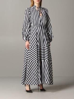 Pinko Cartoccio 1 Striped Dress