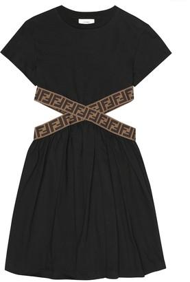 Fendi FF cotton-jersey dress