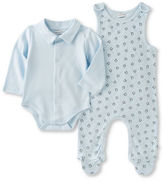 Absorba Two-Piece Penguin Printed Overalls and Bodysuit Set