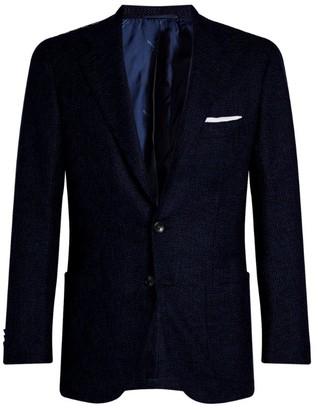 Kiton Textured Single-Breasted Suit Jacket