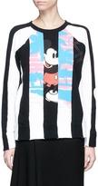 Marc Jacobs Mickey Mouse stripe print colourblock sweatshirt