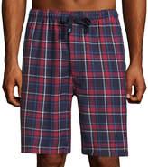 Izod Flannel Pajama Shorts-Big