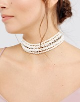 Asos Occasion Faux Pearl & Jewel Choker Necklace