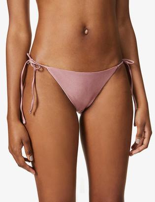 JADE SWIM Ties elasticated-waistband bikini bottoms