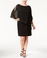 Xscape Evenings Plus Size Beaded Cape Dress