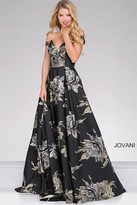 Jovani Off the Shoulder Flora Print Prom Ballgown 48361