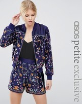 Asos Embroidered Bomber Co-ord