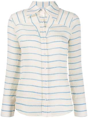 Victoria Victoria Beckham micro-pleated striped shirt