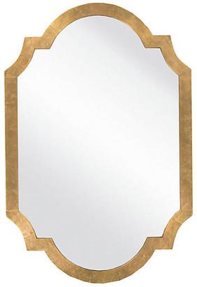 One Kings Lane Quatrefoil Oversize Mirror - Gold