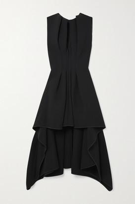 Maticevski Inhibit Asymmetric Draped Cady Dress - Black