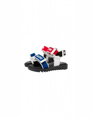 Moschino Sandals With Straps And Logos Unisex Multicoloured Size 20 It - (4k Us)