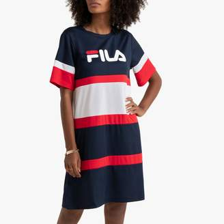 Fila Terhikka Striped T-Shirt Dress with Short Sleeves