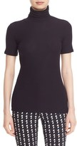 Theory Women's 'Naneik' Rib Knit Short Sleeve Turtleneck