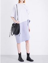 Limi Feu Asymmetric striped cotton-poplin dress