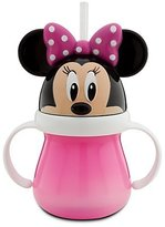 Disney Minnie Mouse Head Cup With Handle And Straw - Minnie Mouse Kids Cup
