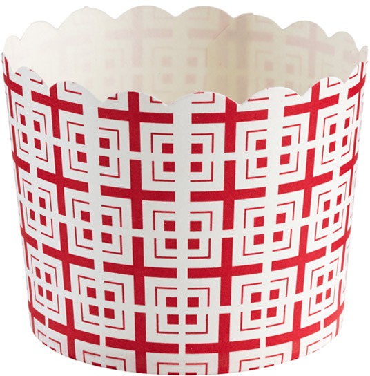 Container Store Large Baking Cups Tiles Red Pkg/20