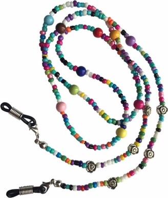 Eyewearstraps NEW Multicoloured & Silver Flower Beaded Glasses Sunglasses Chain Strap Cord Holder
