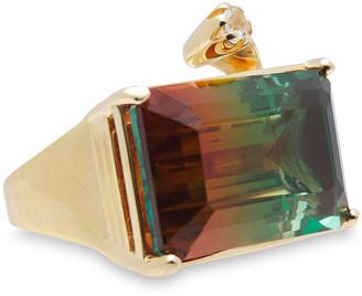 Cornelia Webb 24-karat Gold-plated, Quartz And Siamite Ring
