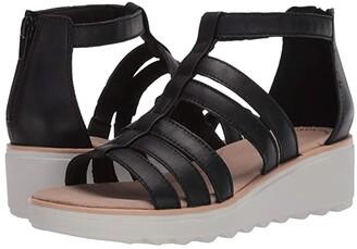 Clarks Jillian Nina (Black Leather) Women's Shoes