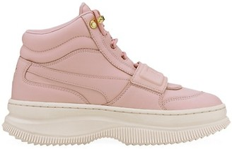 Puma Women's Deva High-Top Leather Sneakers
