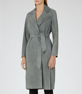 Reiss Maine Suede Trench Coat