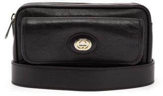 Gucci Morpheus Crackled Leather Belt Bag - Mens - Black