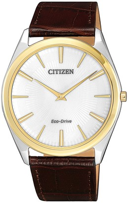 Citizen Men's Eco-Drive Ultra Thin Gold Stiletto Watch, 38mm