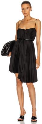BROGNANO Pleated Mini Dress in Black | FWRD