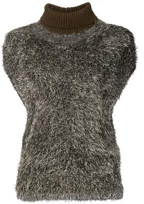 Fabiana Filippi textured turtleneck knitted top