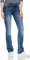 Miss Me Women's Embellished Cross Pocket Boot Cut Denim Jean