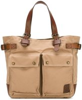 Belstaff cargo pocket tote - men - Cotton/Leather - One Size