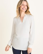 Chico's Chicos Notched-Detail V-Neck Pullover
