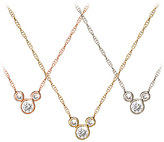 Disney Mickey Mouse Diamond Necklace - 18K Gold - Small