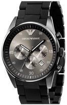 Emporio Armani Silicone Chronograph Watch, 43mm