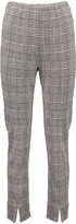 Minna Women's Dress Pants Plaid - Gray Plaid Slit-Cuff Ponte Skinny Pants - Women