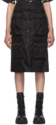 Prada Black Nylon Gabardine Pencil Skirt