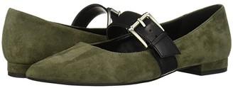 Aerosoles Final Score (Dark Green Suede) Women's Flat Shoes