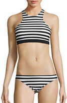 Michael Kors Stable Striped High Neck Bikini Top