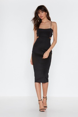 Nasty Gal Womens Back in the Game Cut-Out Bodycon Midi Dress - Black