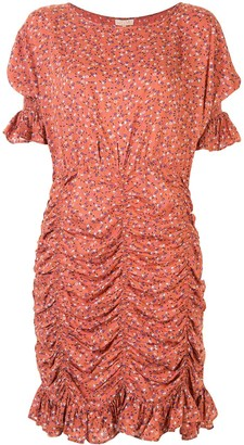By Ti Mo Floral-Print Ruched Dress