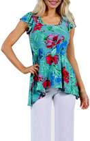 24/7 Comfort Apparel Paradise Tunic Top