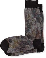 Marcoliani Metal Foliage-Print Cotton Socks