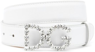 Dolce & Gabbana crystal leather belt