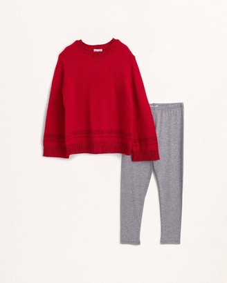 Splendid Little Girl Lurex Sweater Knit Set
