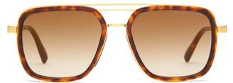 Cutler And Gross - Aviator Acetate And Titanium Sunglasses - Mens - Tortoiseshell